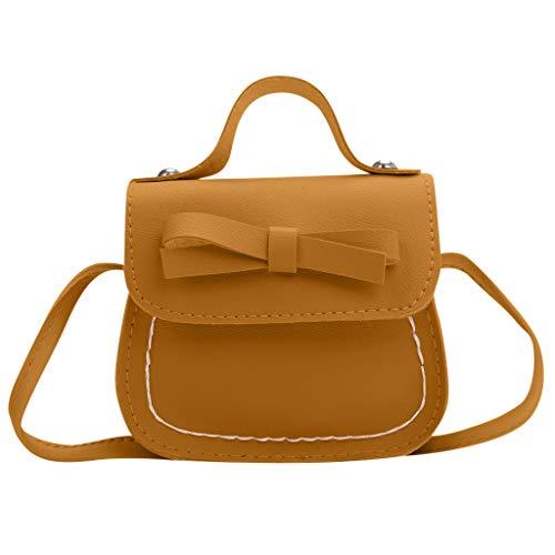 Chanel Bow (WHSHINE Mode Kindertasche Bauchtasche Child Crossbody Fashion Bow Umhängetasche Brusttasche Handtasche Gross Leicht Kind Umhängetasche Geldbörse)