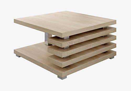 Tavolino Salotto Rovere Chiaro.Tavolino Da Salotto Oslo 60 X 60 Cm Rovere Chiaro