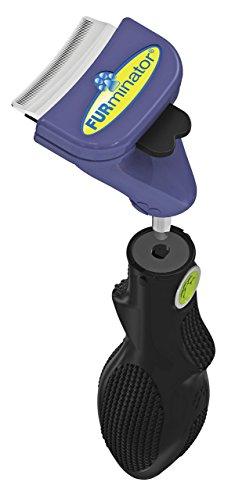 FURminator FURflex, Fellpflegebürste für kleine Hunde, deShedding-Tool zur Entfernung der Unterwolle, Größe S -