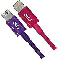 RND 2 x Apple da Lightning a USB certificato cavo (45,72 cm) per iPhone (6/6 Plus/5/5S/5C) iPad (Air/mini) iPod Touch - per ricarica e sincronizzazione dati 8 pin cavo (45,72 cm /, 5 metri/viola e rosa) set di due
