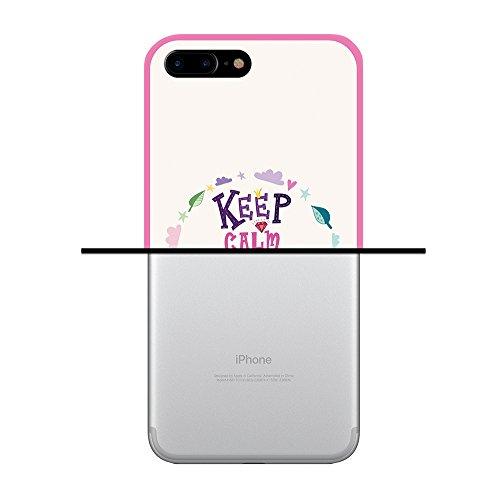 iPhone 7 Plus Hülle, WoowCase Handyhülle Silikon für [ iPhone 7 Plus ] Satz - I Love You To The Moon And Back 2 Handytasche Handy Cover Case Schutzhülle Flexible TPU - Transparent Housse Gel iPhone 7 Plus Rosa D0157