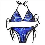 Blue Starry Sky Sexy Women Beach Swimwear Two Pieces Bathing Suit Bikini Top