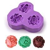 BOXCUTE DIY 3D Rose Fleur Moules pour Décoration Gâteau Cupcake Fondant Sucre