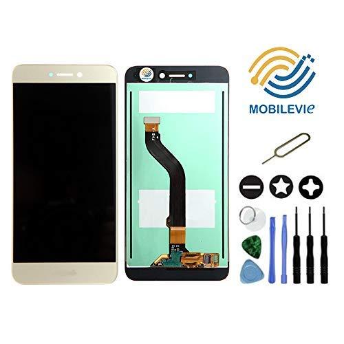 Mobilevie VITRE Tactile + ECRAN LCD Original Pret-A-Monter pour Huawei P8 Lite 2017 Or + Outils