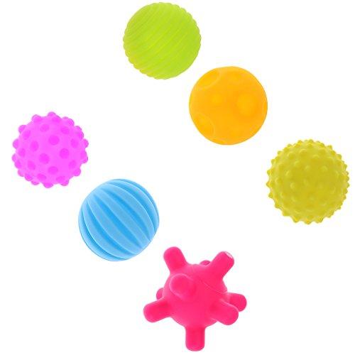 Baoblaze Baby Spielzeug Bälle-Set ry Ball Regenbogen Gummiball aus ABA Kunststoff Spielzeug - 6 Stück, 23 * 20.5 * 7cm (Spielzeug Aba)