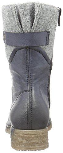 Rieker - 79604, Stivali Donna Blu (Ozean/granit)