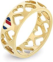 TOMMY HILFIGER WOMEN'S IONIC GOLD PLATED STEEL RINGS -2701