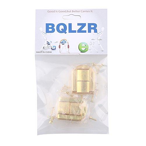 BQLZR 4pcs gold Dekorative Buckle Bügelschloss Vorhängeschloss Schließe für Schränke