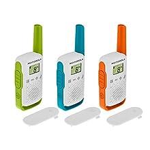 Motorola PNI-MTAT42-3 Stazione Radio Portatile, confezione da 3