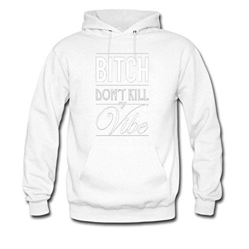 HKdiy Bitch Don't Kill My Vibe Custom Men's Classic Hoodie White