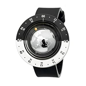 Think the Earth unisexe WN-2 montre Globe Noir et Argent