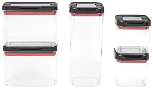 Tefal K226S514 - Dry Storage Ingenio, Set 5 Pièces, Plastique, Noir