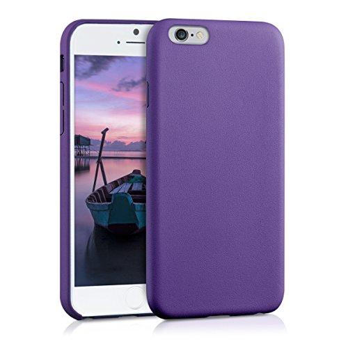 kwmobile Hülle für Apple iPhone 6 / 6S - Kunstleder Case Handy Schutzhülle - Backcover Cover Beige .Violett