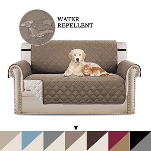 BellaHills Zweisitzerüberzug Loveseat Schonbezug Reversible Furniture Protector mit elastischen Riemen, Verhindern Sie Flecken/schützen Sie Sich vor Haustieren, verschütten, tragen und reißen