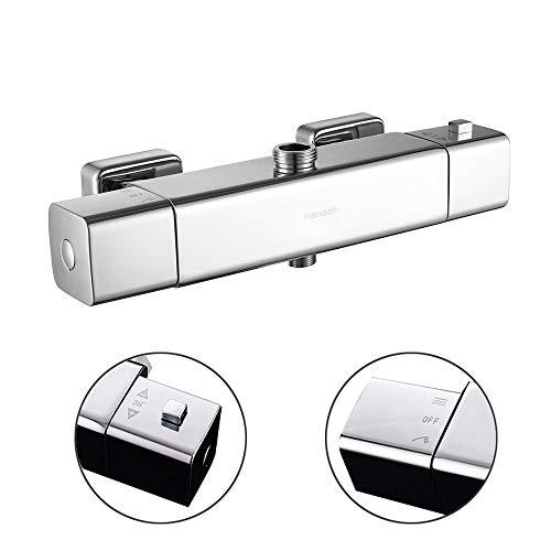 hausbath Thermostat Bad Armatur Duscharmatur Wasserhahn Brausearmatur Dusche Mischbatterie (Ohne Wasserhahn)