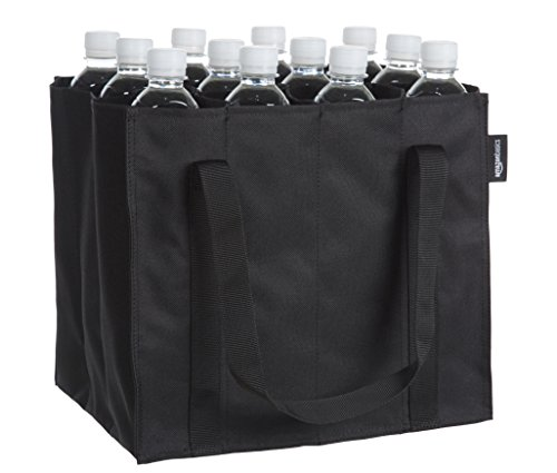 AmazonBasics Borsa portabottiglie 12 scomparti per bottiglie da 075 l Nero