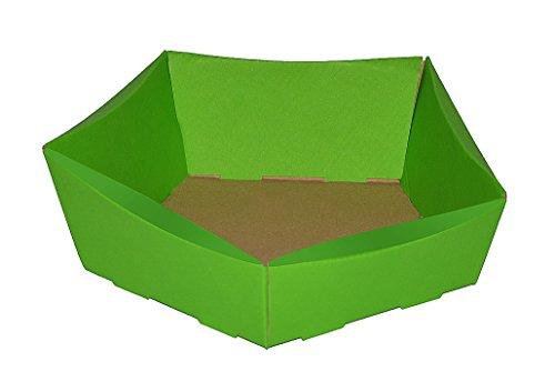 , Geschenkkorb, Osterkörbchen, Größe 210x200x65/50 mm, Osternest, Präsentkorb, Wellpappkorb, frühlingsgrün ()