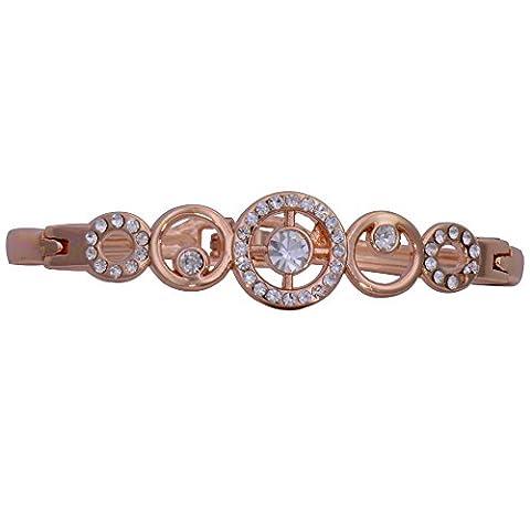 Glitz Nouveau Mode 18K en or jaune clair cristal autrichien Bracelet Bijoux pour femme