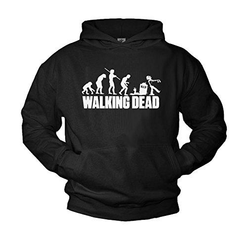 Pullover Walking Dead nero - ZOMBIE EVOLUTION - Felpa con cappuccio uomo XXL
