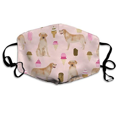 Hund Rasse Labrador Retriever Pink Anti Staub Maske Anti-Verschmutzung waschbar Wiederverwendbar Mundmasken ()