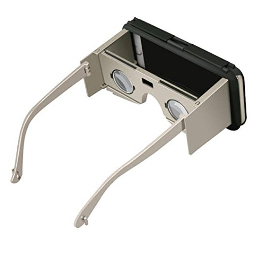 Sansee Virtual Reality Gläser für iPhone 6S Plus 5,5 Zoll Portable 3D VR Handy Fall (Gold) (Lg Tv Google 47)
