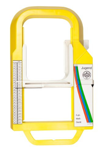 Brueder Winkle - since 1865 Fussmessgerät Kinder und Jugendfussmessgerät - schnell und einfach vermessen, da ohne Boden