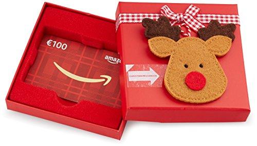 Amazon.de Geschenkkarte in Geschenkbox  - 100 EUR (Rentier)