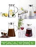 Susteas 2.0 litri 70 once Brocca di vetro con coperchio ghiacciato brocca di tè brocca di acqua calda fredda acqua ghiaccio tè vino caffè latte e succo bevanda caraffa
