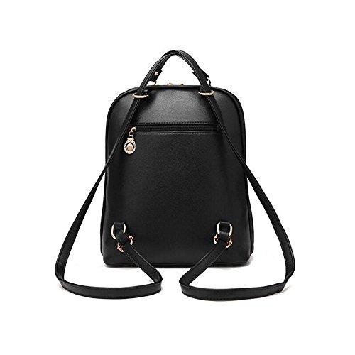 Frauen Rucksäcke Handtaschen Sweet PU Leder Schule College Reise Outdoor Tasche für Mädchen Damen Taschen. (Königsblau) Rose