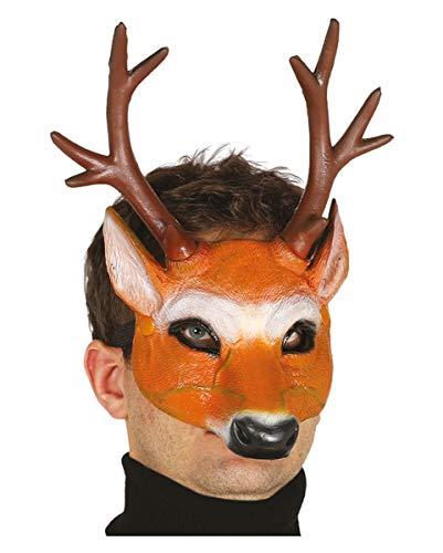 Horror-Shop Hirsch Halbmaske für Fasching & Halloween