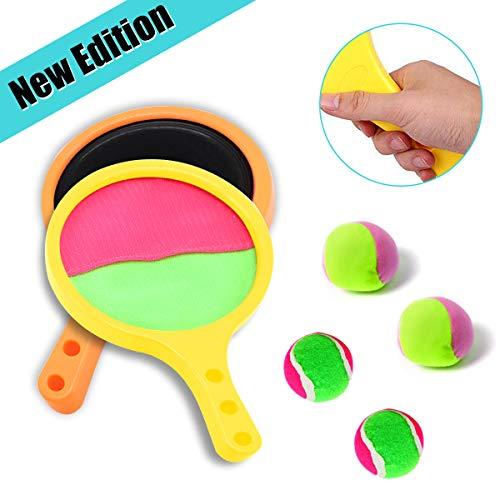 Joy-Fun Draussen Spielzeuge 3-8 Jahre Alt Jungs Mädchen Werfen und Fangen Paddle Ball Schläger Einstellen Strand Spielzeug Kinder Sommer Spiel Baseball Tennis Spielzeuge Kinder Geschenke