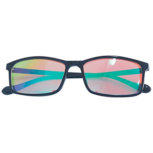 ZJXHAO Color Blind Corrective Briasses for Red-Green Blindness, Medium Strong Grade Glasses for Color Vision Disorder, Color Weakness, Unisex, Fashion Business Glasse