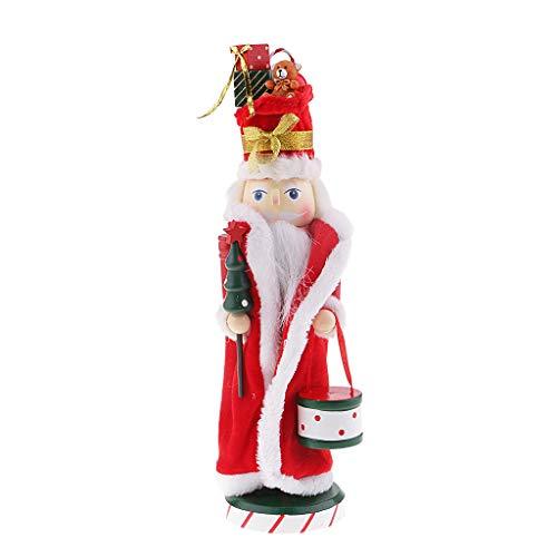 perfk 36cm Hölzerner Nussknacker Nussknacker-Soldat-Modell hölzerne Puppenpuppe für Kinder Geschenke Weihnachten - D