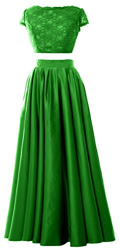 MACloth - Robe - Trapèze - Manches Courtes - Femme green