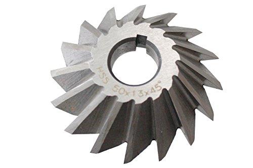 45° HSS Winkelstirnfräser 50mmx13mmx13mm für Fräsdorn Fräser DIN842