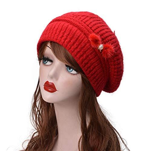 KJNHL Sombrero De Invierno De Punto Grueso De Invierno para Mujer De. 19b6dda938b