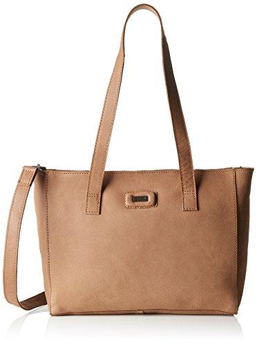 Spikes & Sparrow Damen Zip Bag Schultertasche, Beige (Sand), 9x25x33 cm