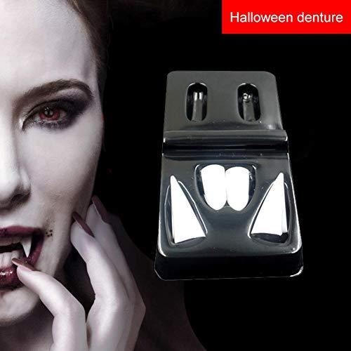 Vampir Zähne Zähne Zahnersatz Requisiten Halloween Kostüm Requisiten Bevorzugungen Urlaub DIY Dekorationen Horror Erwachsene für Kinder 4 Größe