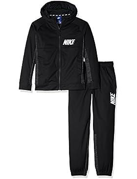 Nike B NSW TRK Suit Poly Chándal, Niños (Negro/Blanco), XL