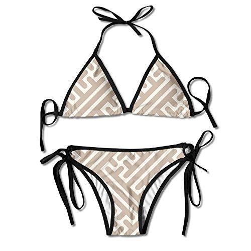 Abstract Music Paul Guitars Gibsons Bikini Women's Summer Swimwear Triangle Top Bikinis Swimsuit Sexy 2-Piece Set