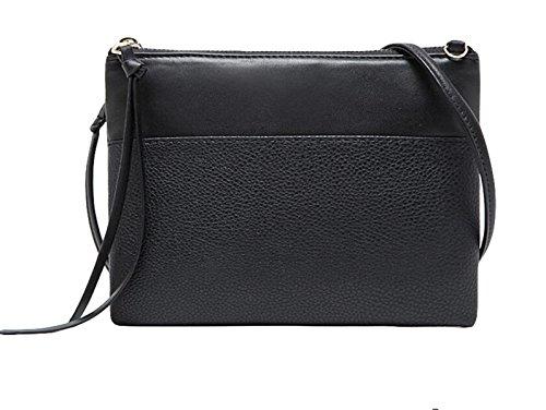 Sezione Femminile Bag Busta Borsa Cerniera Selvaggio Messenger Bag In Pelle Di Moda Borsa Dell'unità Di Elaborazione Brown