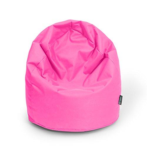 BuBiBag Sitzsack Tropfenform Beanbag Sitzkissen für in & Outdoor XL 300 Liter bis XXXL 470L mit Styropor Füllung in 23 Versch. Farben (XL, Pink)
