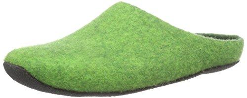 MagicFelt Ju 720, Pantoufles non doublées mixte adulte Vert - Grün (green 4801)