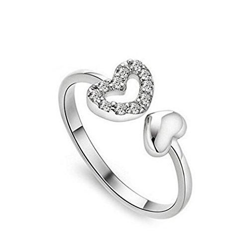 Tb koop temperato a goccia anello regolabile anello aperto anello anelli per donne argento gioielli 1set 20 l