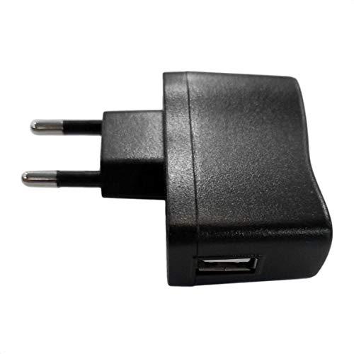 WEIWEITOE AC/DC Adapter 1Pc USB Wandadapter MP3 Ladegerät AC DC Netzteil EU/US Stecker Geeignet für DVS, mp3, Handy, PDAs, Schwarz, Usb-pda-adapter