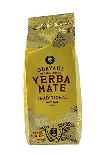 Guayaki Traditional Yerba Mate, 75 Tea Bags 7.8oz (Pack of 2) - Guayaki Yerba Mate