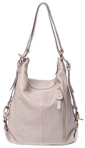 Keshi Leder neuer Stil Damen Handtaschen, Hobo-Bags, Schultertaschen, Beutel, Beuteltaschen, Trend-Bags, Velours, Veloursleder, Wildleder, Tasche Grau
