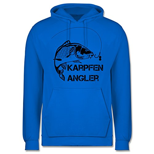 Shirtracer Angeln - Karpfen Angler - L - Himmelblau - JH001 - Herren Hoodie