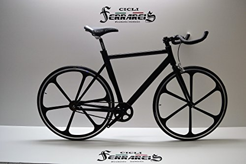 FIXED BIKE SINGLE SPEED BICICLETA SINGLE SPEED BICICLETA PIÑON FIJO A 6R NEGRO