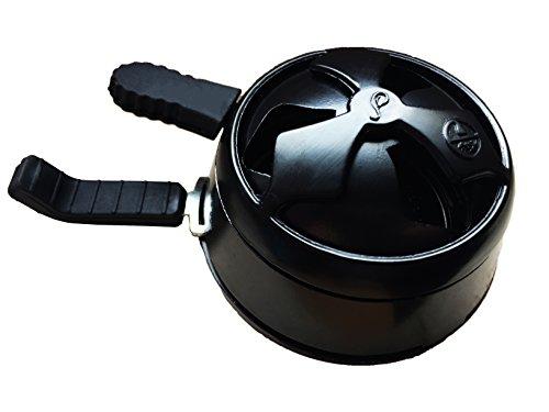 Shisha Kamin-Aufsatz I Black Heat I Kaminkopf I mit 2 Gummigriffen in Schwarz I 7,5cm Durchmesser
